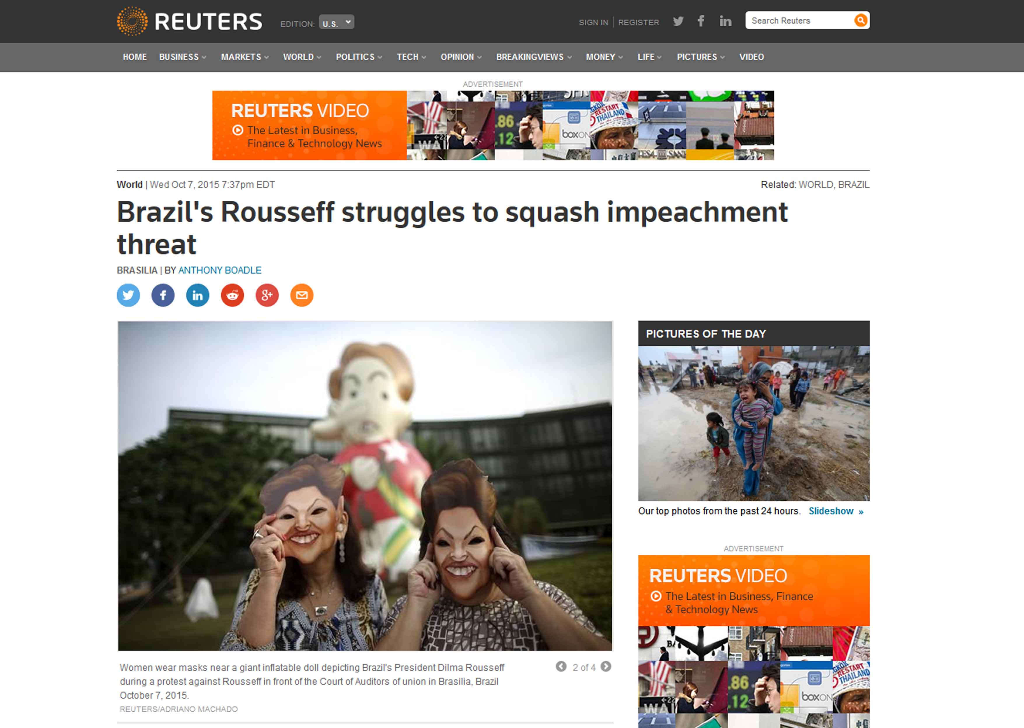 Publicacao Reuters Dilma TCU
