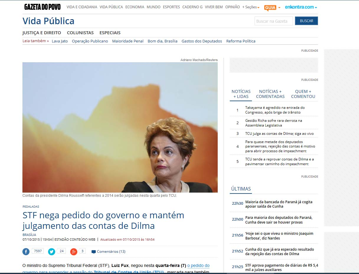 Publicacao Reuters Dilma 4