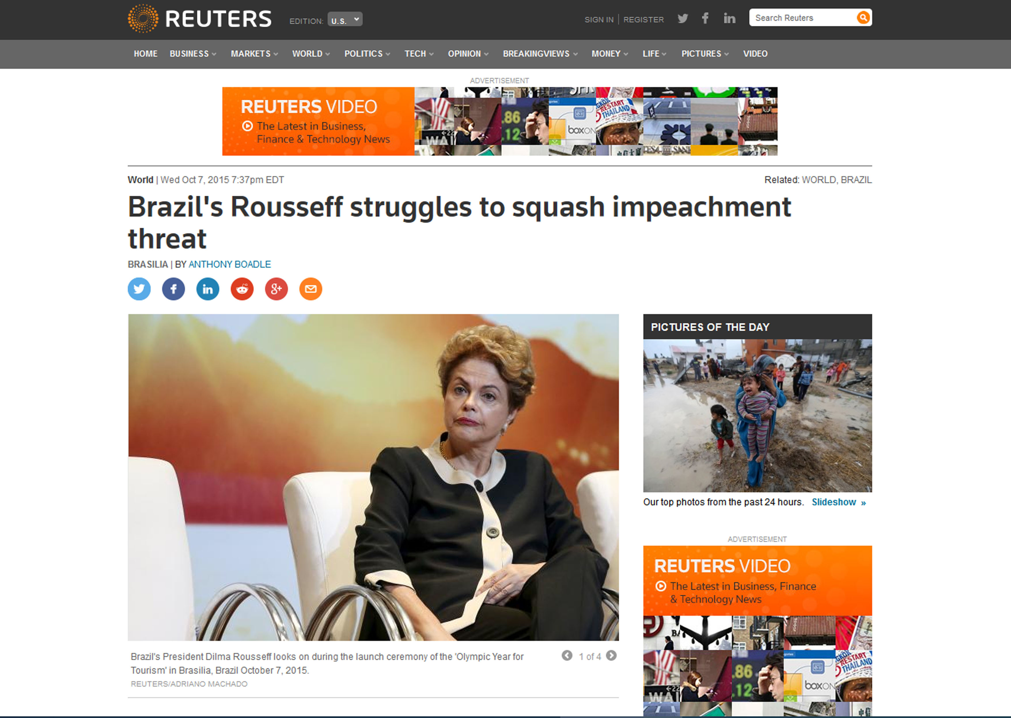 Publicaca Reuters Dilma