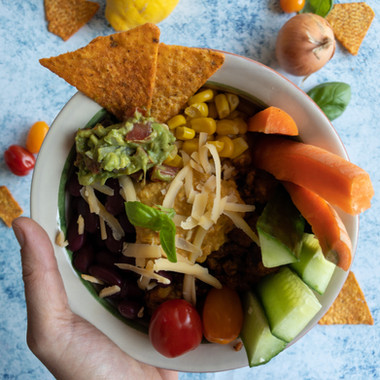 Mexicaanse bowl (vegetarisch/vegan)