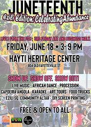 JUNETEENTH EDITION: LIVE! From The Fayetteville Street Corridor, A 3rd Friday Art & Business Walk