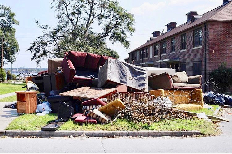 Homes sitting on the curb. Displaced. Living in mold. No power. No food. People in marginalized communities need our help.