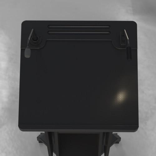 BGL-PS50-Castors-Ext Shelves Down-All Op