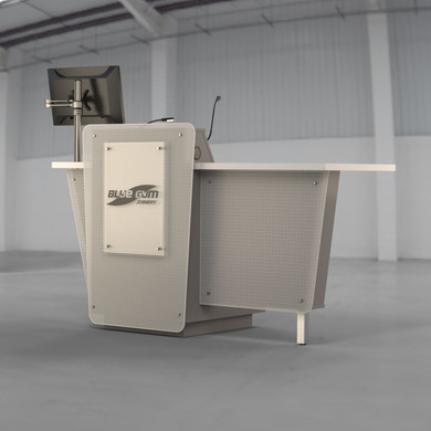 G-Series Presenter Table - Monitor and Logo