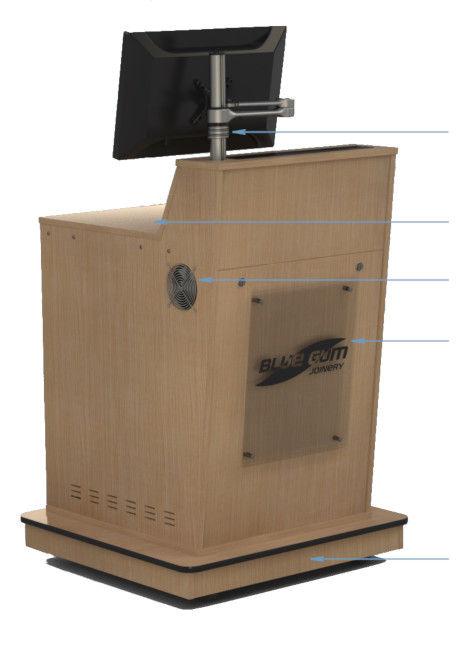 A-Series Single Bay Castor Kickboard Opt