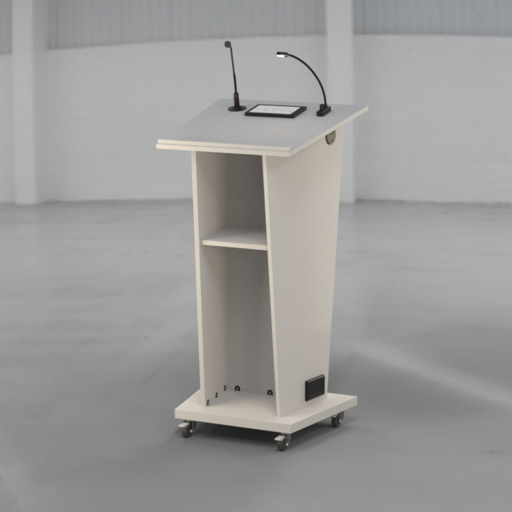 BGL-SBM-2B Lectern built in white