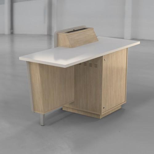 G-Series Presenter Table - Seasoned Oak