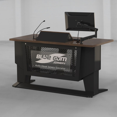 L-SERIES Presenter Table with LOGO