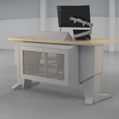 L-Series Presenter Table Audience White