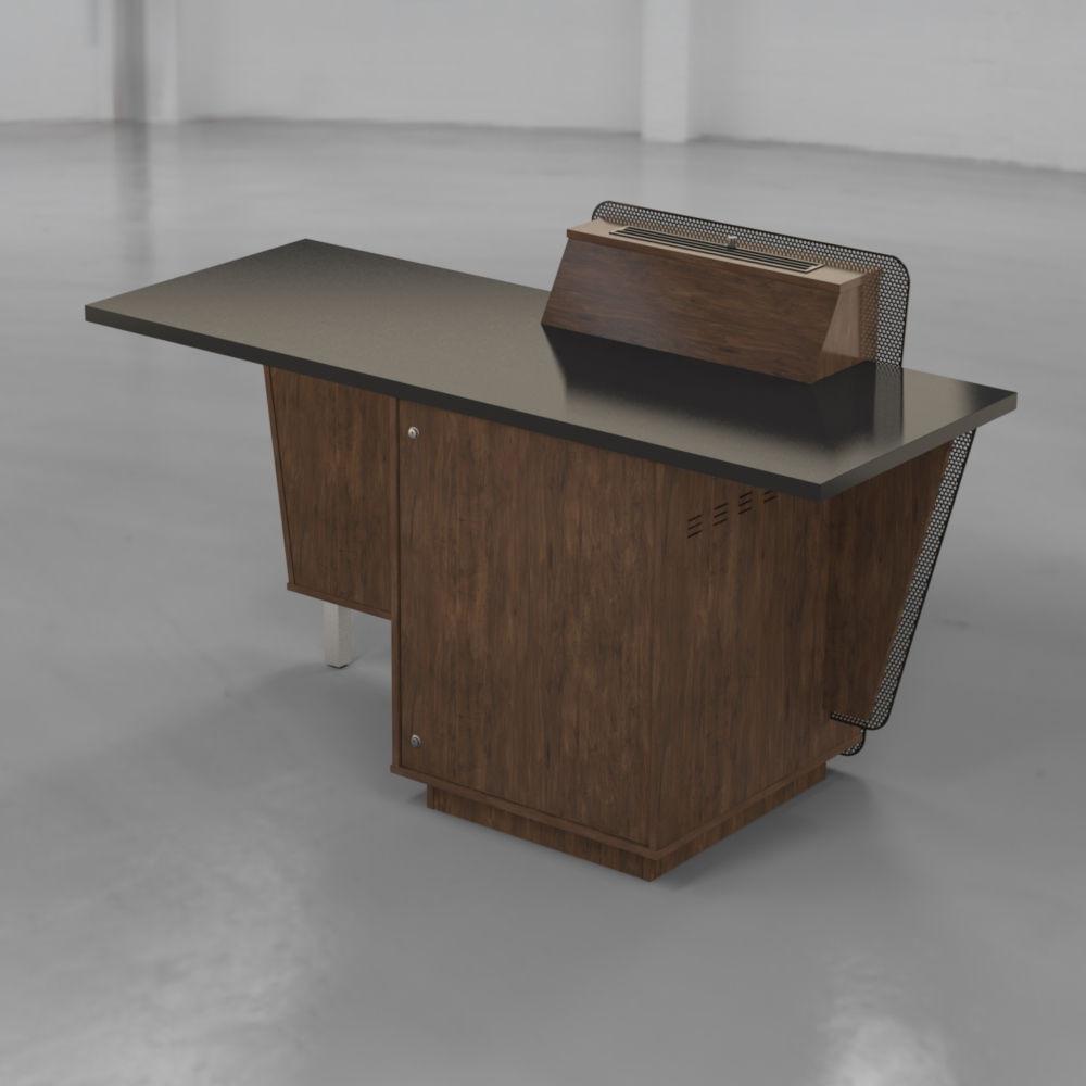 G-Series Presenter Table - Aged Walnut