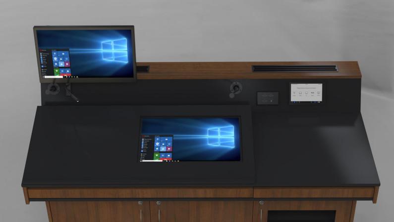 BGL-CPM03LA Monitor behind glass panel