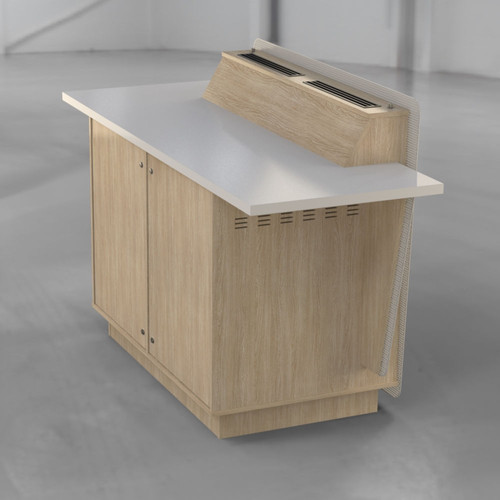 G-Series 2 Bay - Seasoned Oak and White