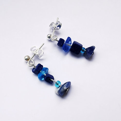 Silver Plated Dangle Earrings - All Things Blue
