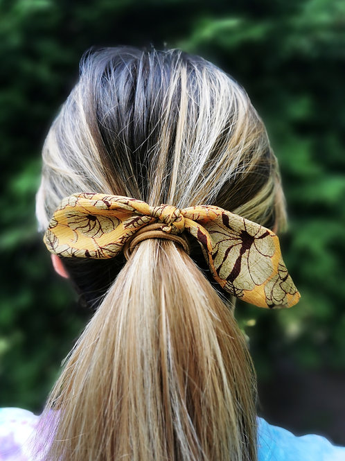 Knotted Hair Bow - Autumn Petal