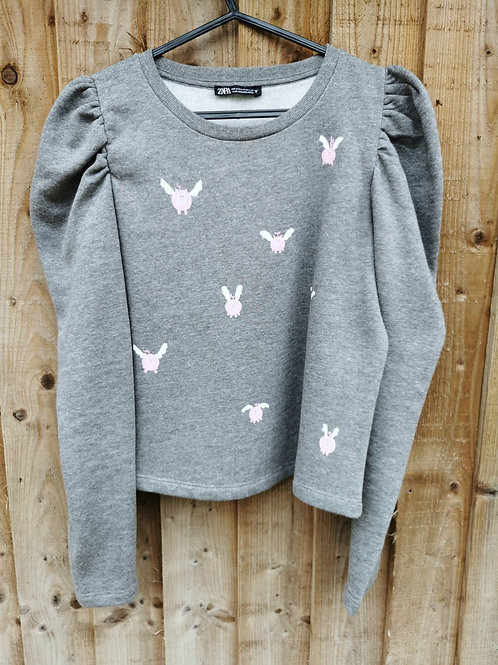 Cropped Jumper with Flying Pigs