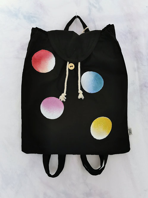 Multicoloured Spots Organic Cotton Backpack