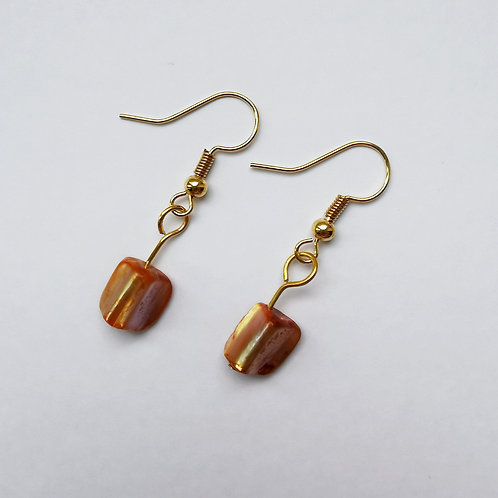 Gold Plated Dangle Earrings - Simply Golden