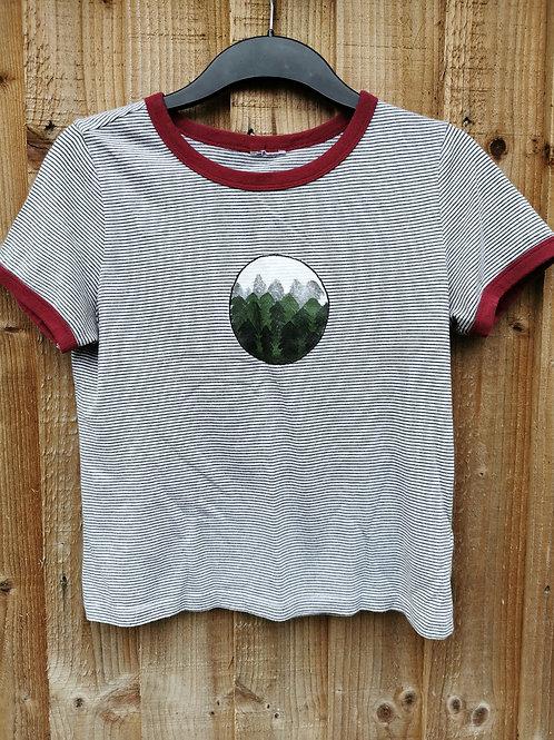 Misty Forest Stripe Ringer T-Shirt