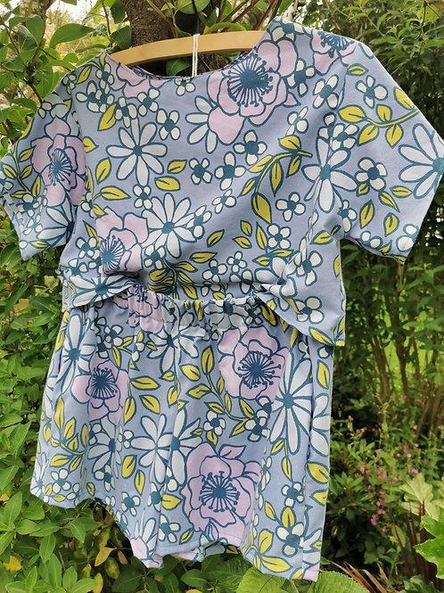 Floral Top & Shorts Set - Size M