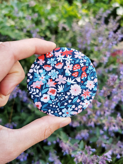 Compact Mirror - Floral Shrooms