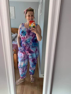 Customer picture of an ice dyed garment