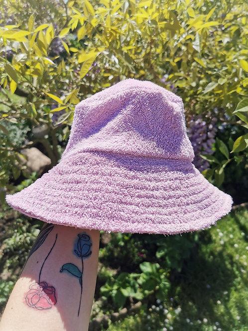 "Baby Pink Towelled Bucket Hat -23""-24"""