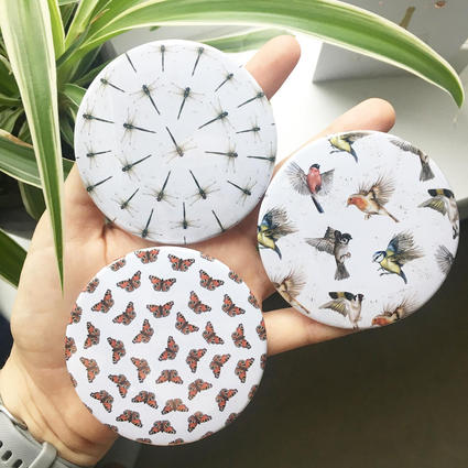 Circular Pocket Mirrors