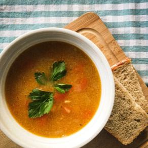 Lemony Plant-Based Chickpea Soup