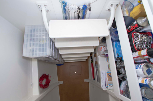 Accessing Mauliola's bow work space and storage
