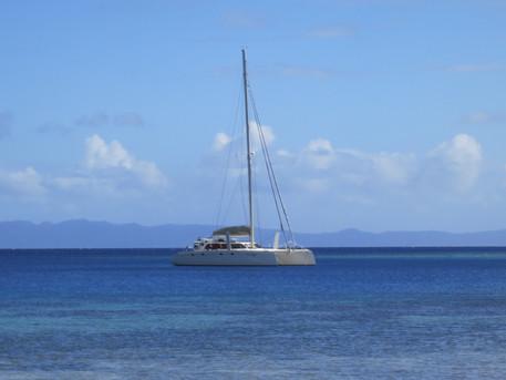 Mauliola anchored in shallow Tonga bay