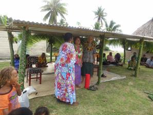 A Fijian birthday celebration