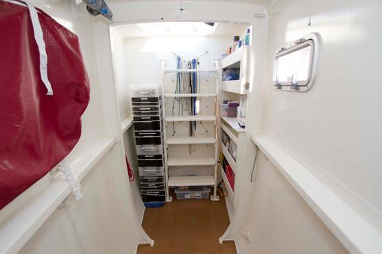 Mauliola's bow work area and storage