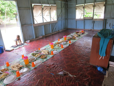 Awaiting a Sunday feast on Susui Island, Fiji