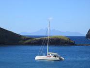 Safe anchorage in Hakatea Bay, Nuku Hiva, French Polynesia