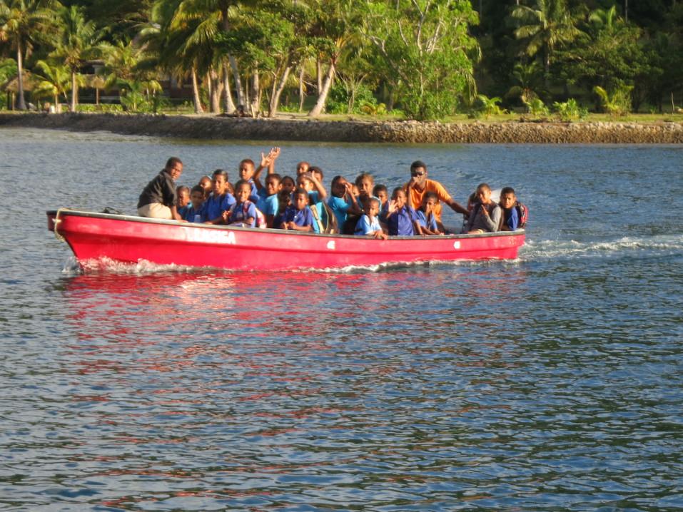 'School bus' in Naivivi Bay, Fiji