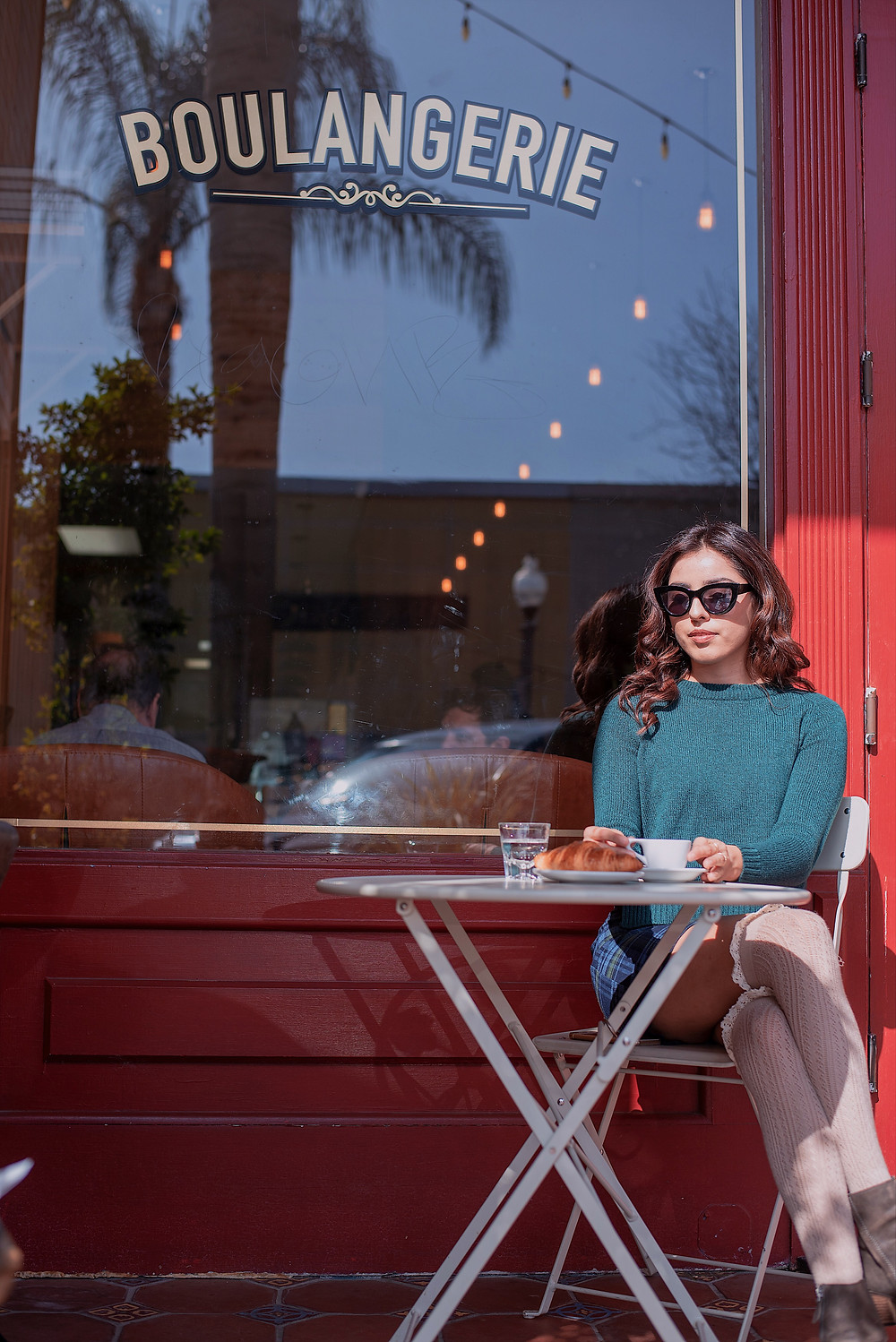 Parisian-Themed Coffee Shop Fashion Photography Beach Town Local Tourist Spot in Downtown Ventura, CA