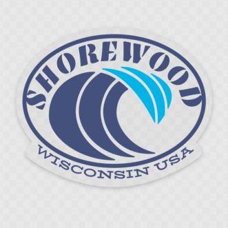 Shorewood Wave Sticker (Clear/Blue)