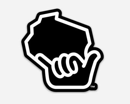 Wiloha Icon Hand Sticker (Black/White)