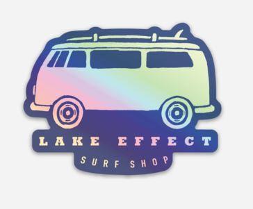 Lake Effect Bus Logo Sticker (Blue Holographic)