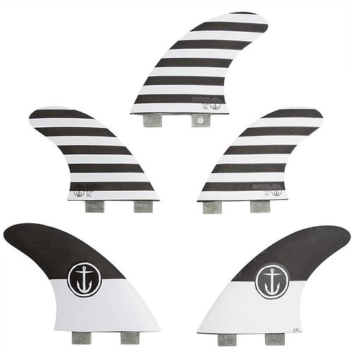 Captain Fin CF Twin Tab 5-Fin Set (Large)