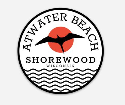 Atwater Beach Flying Bird Sticker