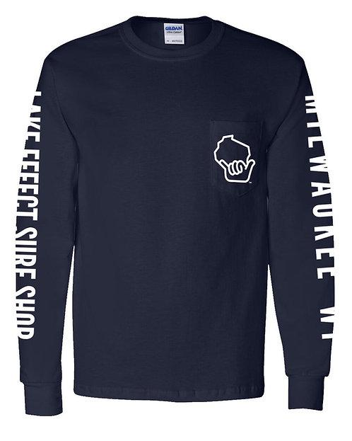 Wiloha Unisex Long Sleeve T-Shirt (Navy)