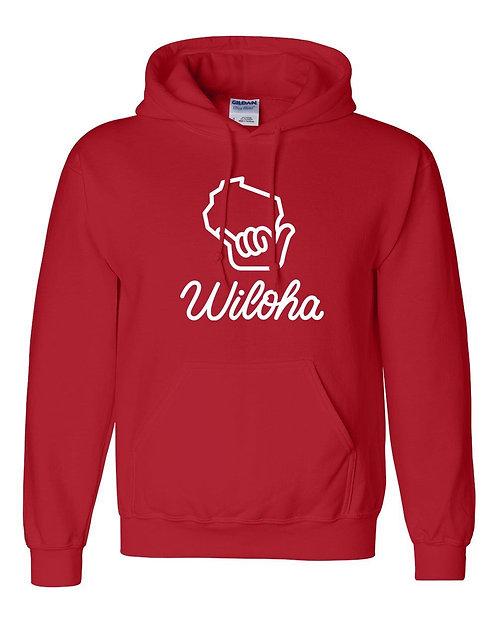 Wiloha Unisex Hooded Sweatshirt (Red)