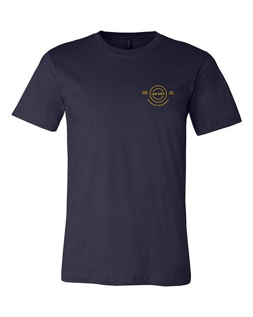 Lake Effect Simple Logo Unisex T-Shirt (Navy)