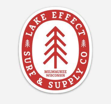 Lake Effect Surf & Supply Tree Sticker