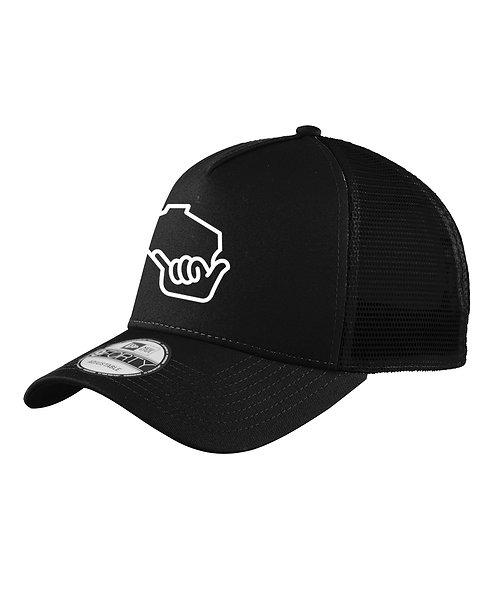 Wiloha Icon Trucker Hat (Black/Black)