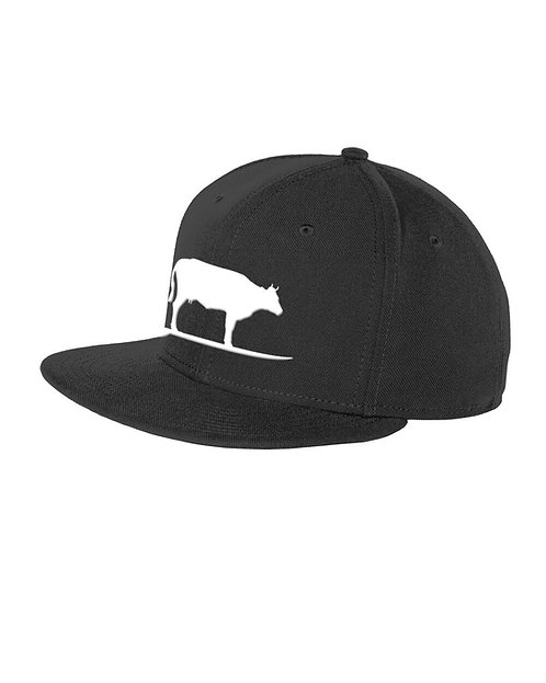 Surfing Cow Adjustable Hat (Black/White)