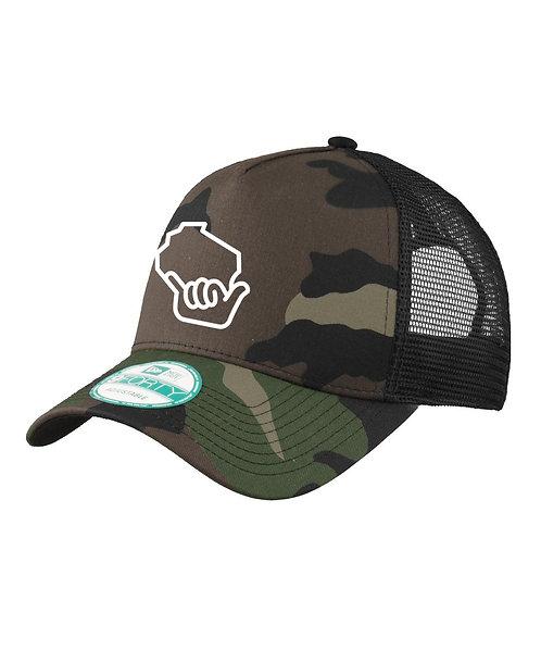 Wiloha Icon Trucker Hat (Camo/White)