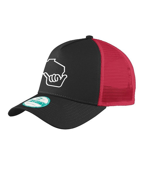 Wiloha Icon Trucker Hat (Black/Red)