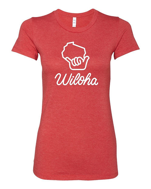 Wiloha Ladies T-Shirt (Red)